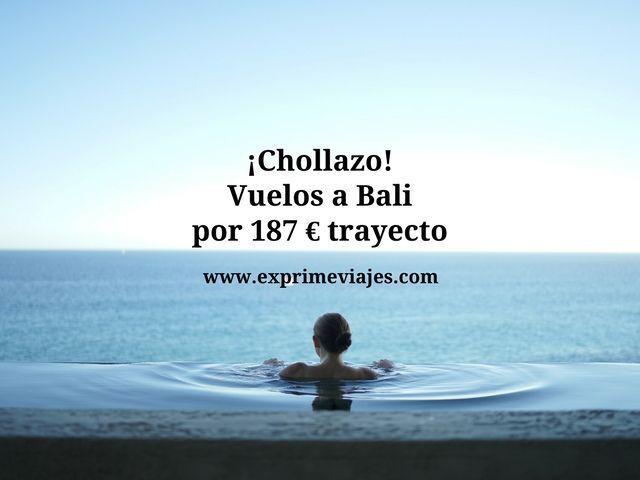 ¡CHOLLAZO! VUELOS A BALI POR SÓLO 187EUROS TRAYECTO