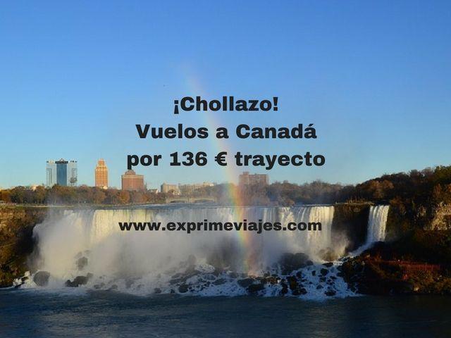 canadá vuelos 136 euros trayecto