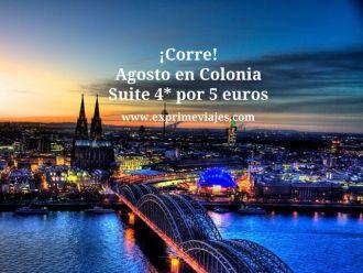¡Corre! Agosto en Colonia suite 4* por 5 euros