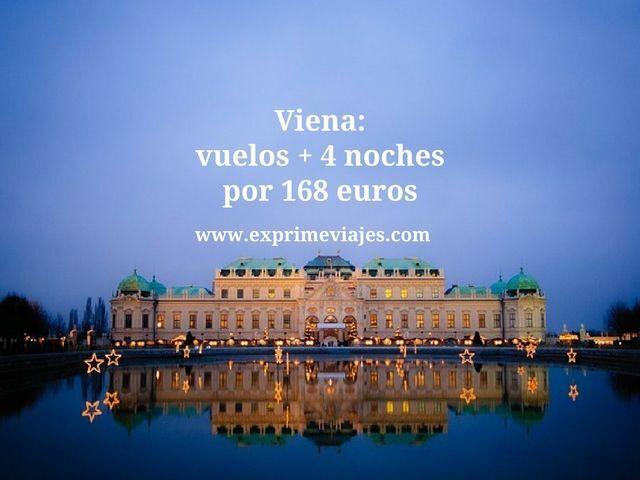 Viena vuelos + 4 noches por 168 euros