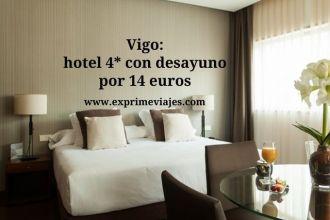 Vigo hotel 4* con desayuno por 14 euros