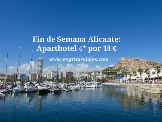 alicante finde aparthotel 4* 18 euros