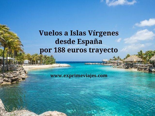 islas virgenes vuelos 188 euros