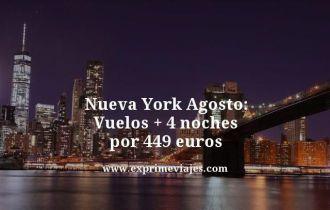 Nueva York Agosto vuelos mas 4 noches por 449 euros