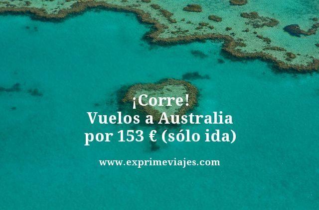 ¡CORRE! VUELOS A AUSTRALIA POR 153EUROS (SÓLO IDA)