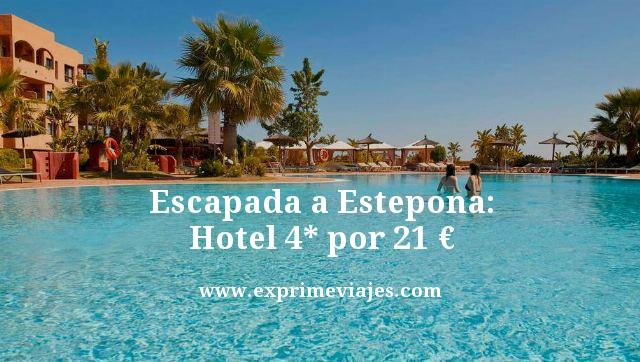 Escapada a Estepona hotel 4 estrellas por 21 euros
