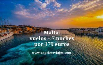 Malta vuelos mas 7 noches por 179 euros