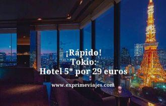 tarifa error hotel 5 estrellas Tokio 29 euros