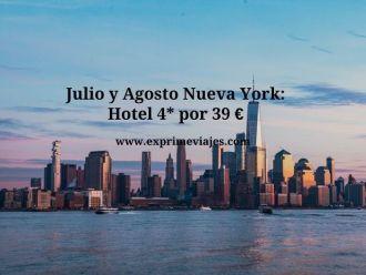 nueva york julio agosto hotel 4* 39 euros