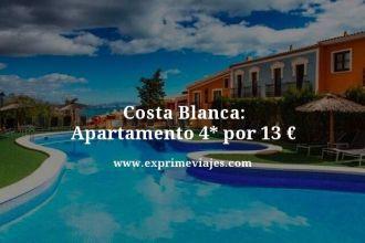 costa blanca apartamento 4 estrellas por 13 euros