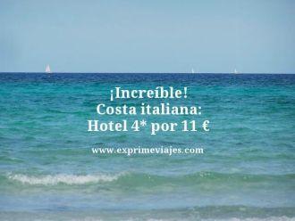 increíble costa italiana hotel 4 estrellas por 11 euros