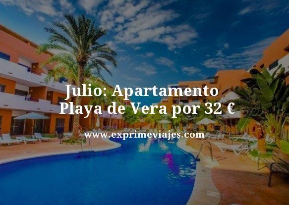 julio apartamento playa de vera por 32 euros