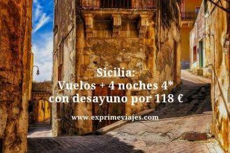 Sicilia vuelos mas 4 noches 4 estrellas con desayuno por 118 euros