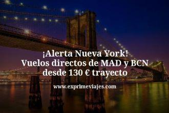 alerta Nueva York vuelos directos de mad y bcn desde 130 euros trayecto