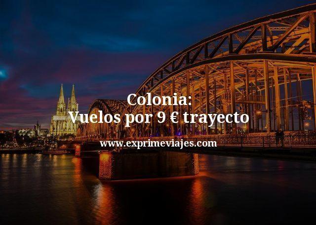 Colonia: Vuelos por 9euros trayecto