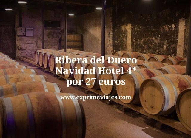 Ribera del Duero Navidad Hotel 4 estrellas por 27 euros