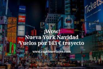 wow Nueva York navidad vuelos por 143 euros trayecto