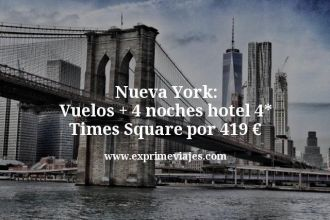 Nueva York Vuelos mas 4 noches hotel 4 estrellas Times Square por 419 €