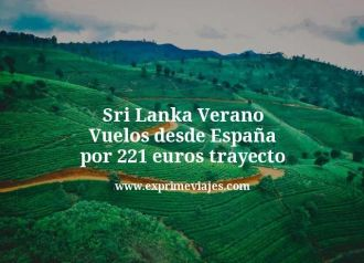 Sri Lanka Verano Vuelos desde España por 221 euros trayecto
