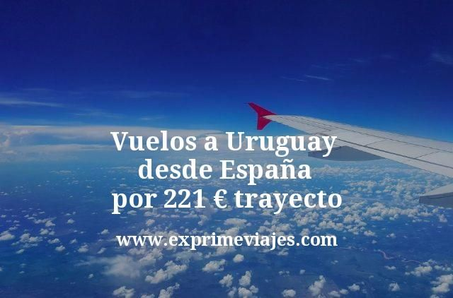 Vuelos a Uruguay desde España por 221 euros trayecto