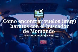 Cómo encontrar vuelos baratos con momondo buscador de vuelos