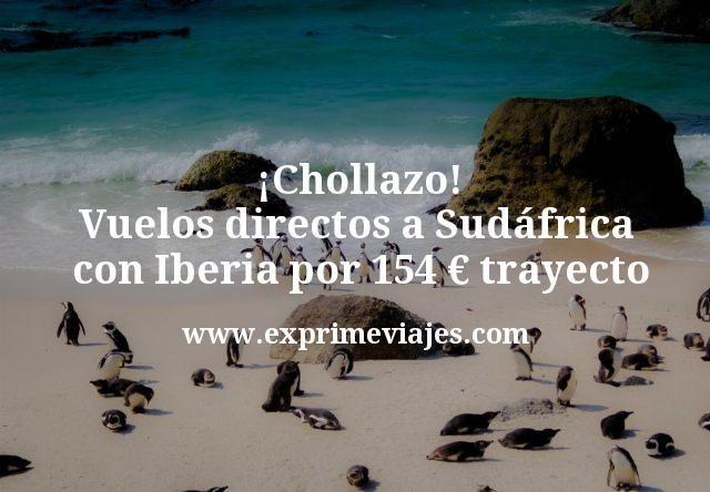 Chollazo Vuelos directos a Sudafrica con Iberia por 154 euros trayecto