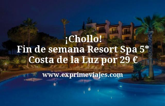 ¡Chollo! Fin de semana Resort Spa 5* Costa de la Luz por 29 euros