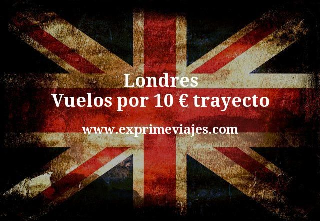¡Wow! Londres: Vuelos por 10euros trayecto