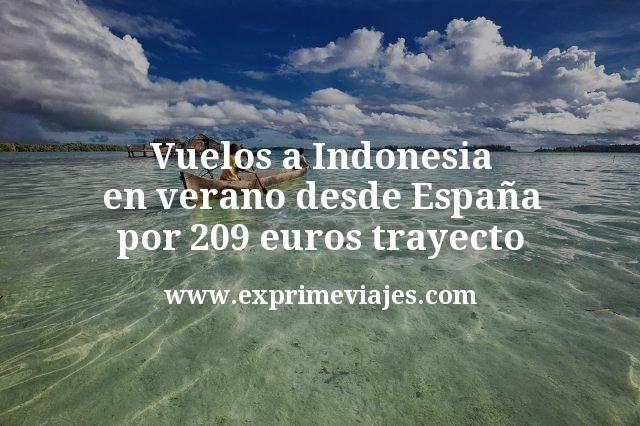 Vuelos a Indonesia en verano desde Espana por 209 euros trayecto