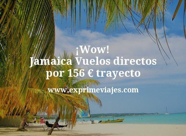 Wow Jamaica Vuelos directos por 156 euros trayecto