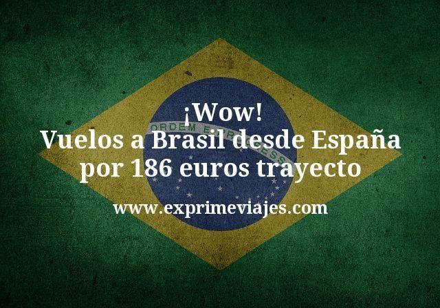 ¡Wow! Vuelos a Brasil desde España por 186€ trayecto