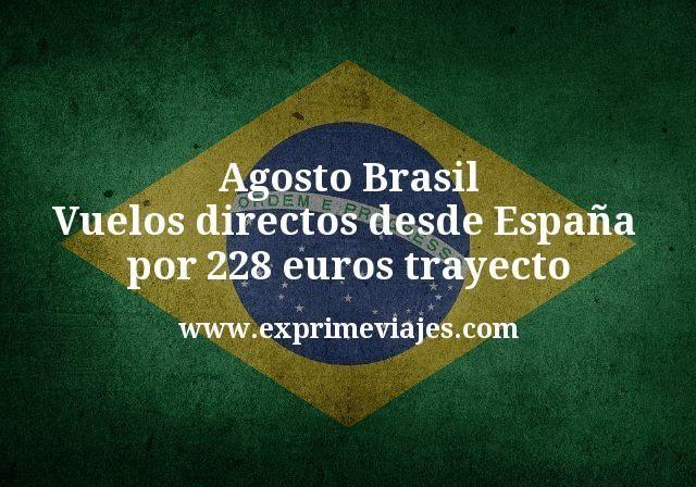 Agosto Brasil Vuelos directos desde España por 228 euros trayecto