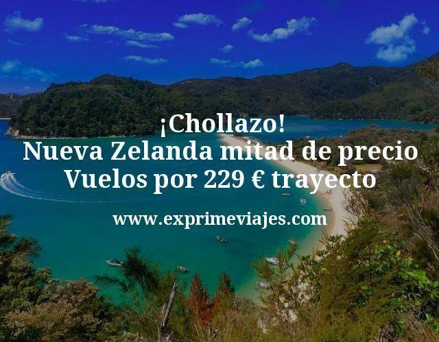 Chollazo Nueva Zelanda mitad de precio Vuelos por 229 euros trayecto