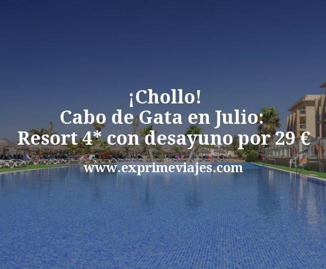 Chollo Cabo de Gata en Julio Resort 4 estrellas con desayuno por 29 euros
