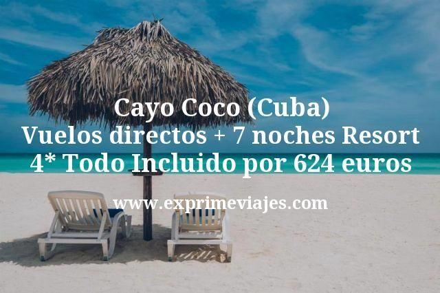 Cayo Coco (Cuba): Vuelos directos + 7 noches Resort 4* Todo Incluido por 624euros