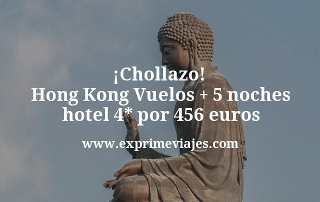 ¡Chollazo! Hong Kong: Vuelos + 5 noches hotel 4* por 456euros