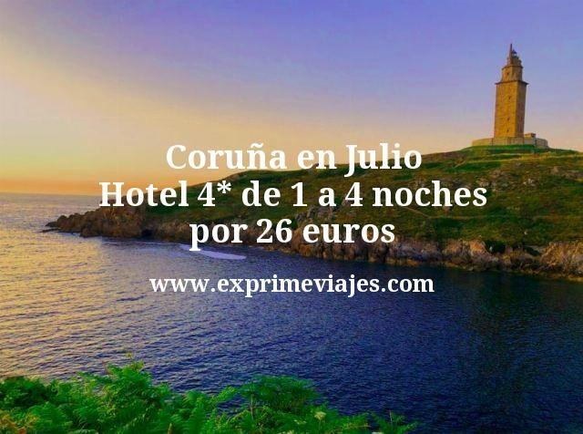 Coruña en Julio: Hotel 4* de 1 a 4 noches por 26euros
