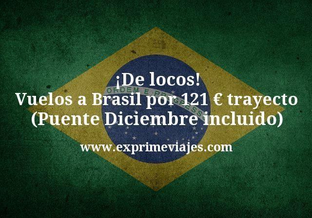 ¡De locos! Vuelos a Brasil por 121€ trayecto (Puente Diciembre incluido)