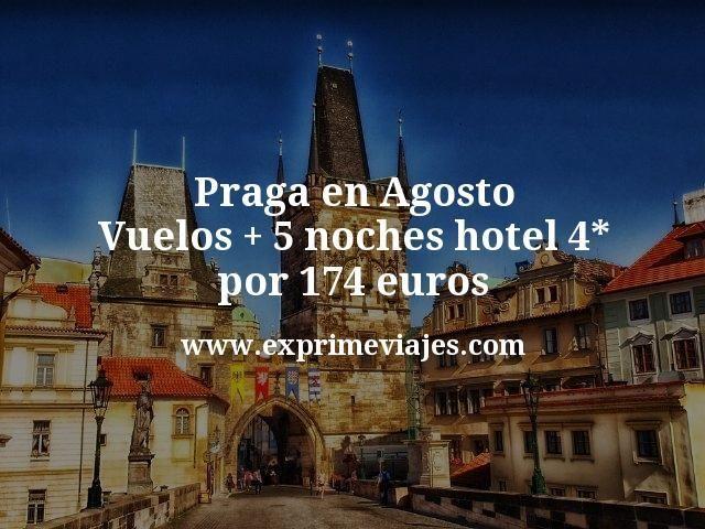 ¡Chollo! Praga en Agosto: Vuelos + 5 noches hotel 4* por 174euros