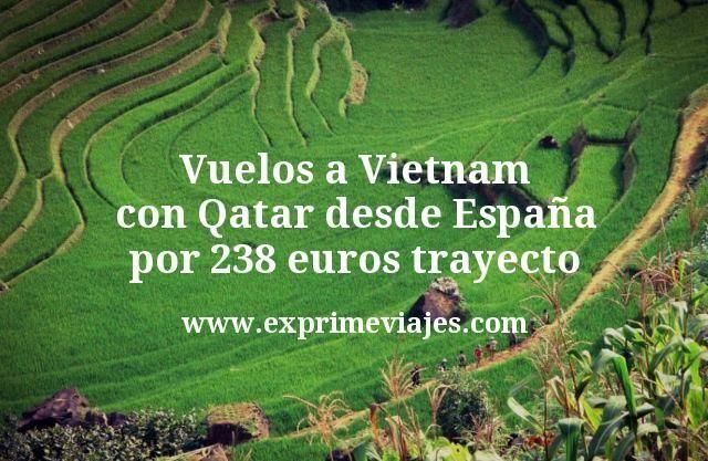 ¡Wow! Vuelos a Vietnam con Qatar desde España por 238€ trayecto