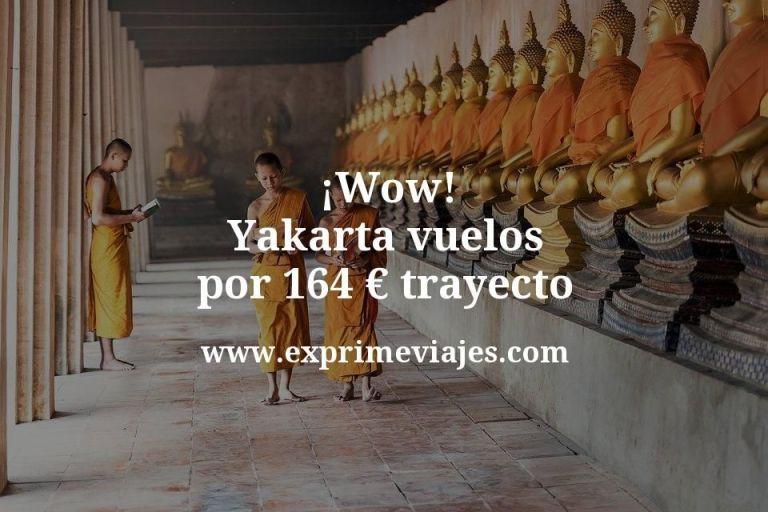 ¡Wow! Yakarta: Vuelos por 164euros trayecto
