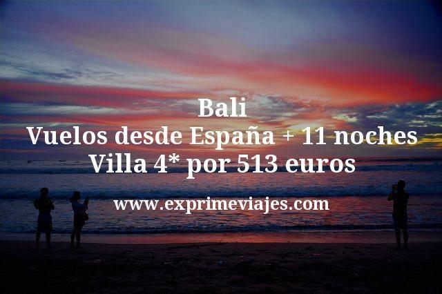 Bali: Vuelos desde España + 11 noches Villa 4* por 513euros
