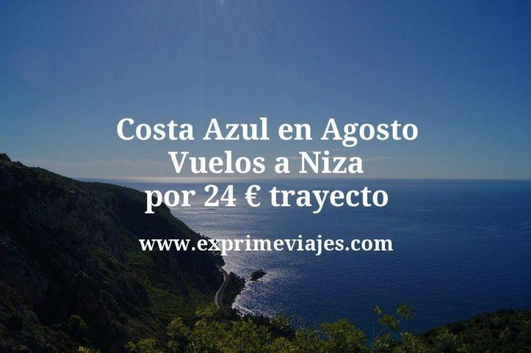 Costa Azul en Agosto: Vuelos a Niza por 24euros trayecto