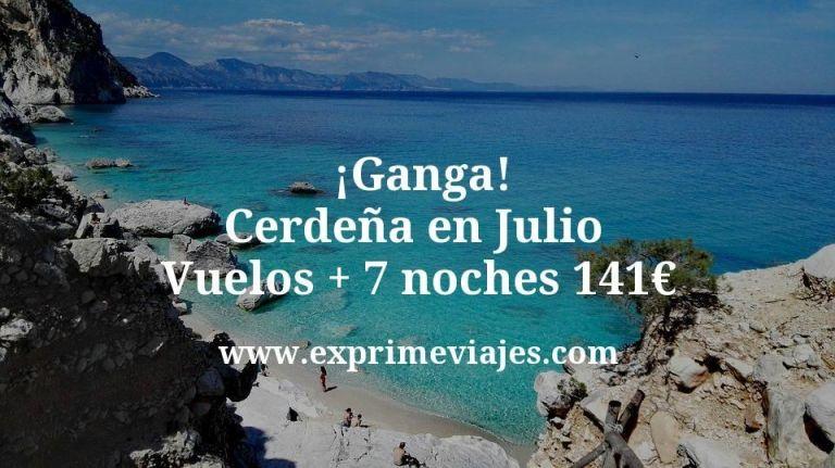 ¡Ganga! Cerdeña en Julio: Vuelos + 7 noches por 141euros