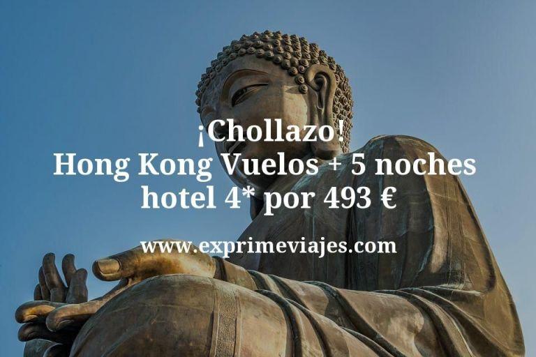 ¡Chollazo! Hong Kong: Vuelos + 5 noches hotel 4* por 493euros