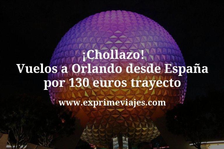 ¡Chollazo! Orlando: Vuelos desde España por 130euros trayecto