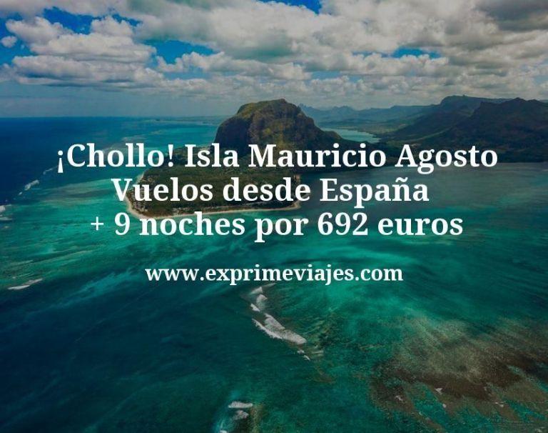 ¡Chollo! Isla Mauricio Agosto: Vuelos desde España + 9 noches por 692euros