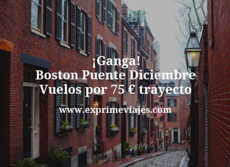 ¡Ganga! Boston Puente Diciembre: Vuelos por 75euros trayecto