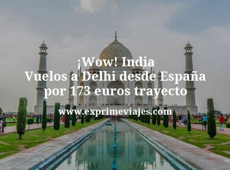 ¡Wow! India: Vuelos a Delhi desde España por 173euros trayecto
