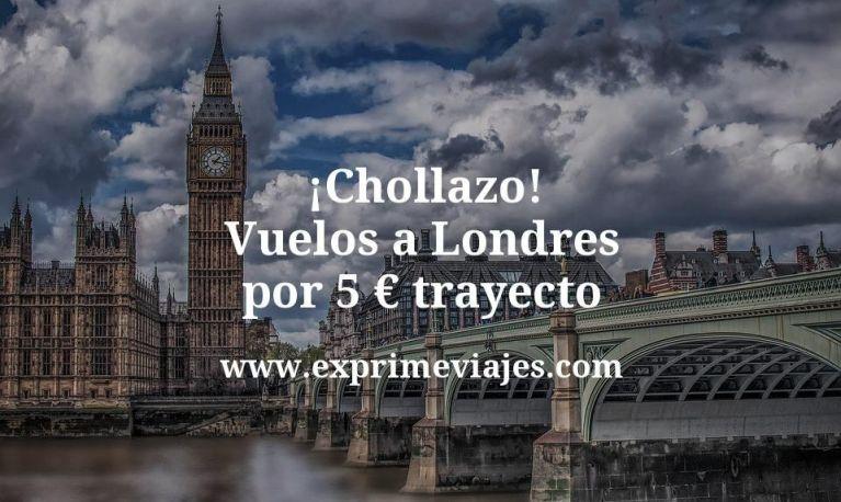 ¡Chollazo! Vuelos a Londres por 5euros trayecto